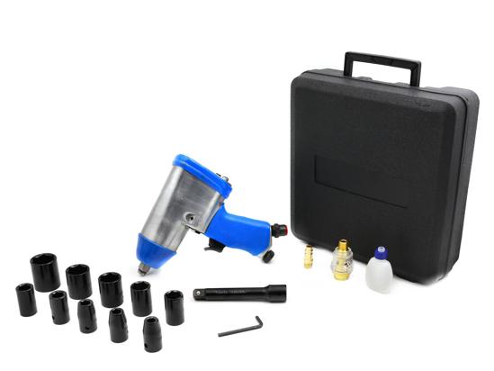 "Picture of Pistol de impact pneumatic 850Nm 6,2bar + accesorii 1/2"", GEKO G03180"
