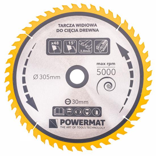 Picture of Disc circular pentru lemn TDD-305x30mm 48 dinti, Powermat PM0901