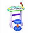 Picture of Pian electric albastru cu microfon si scaun, Malplay 101899