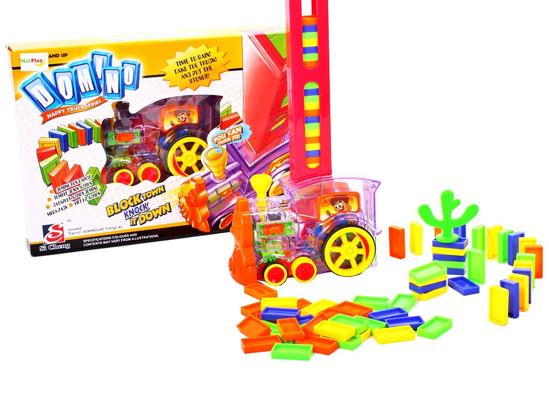Picture of Tren domino, 80 piese, Malplay, 100213