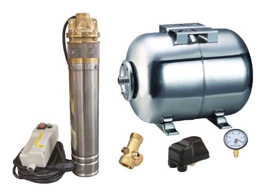 Picture of Kit complet sistem hidrofor, pompa submersibila Influent economic SKM 150