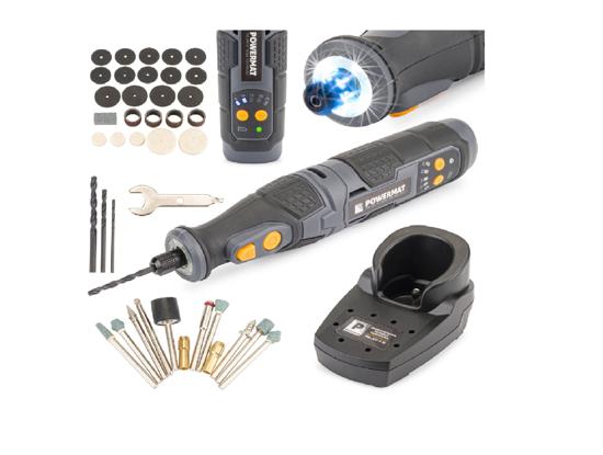 Picture of Mini polizor cu acumulatori si accesorii Powermat PM-AST-7.2T